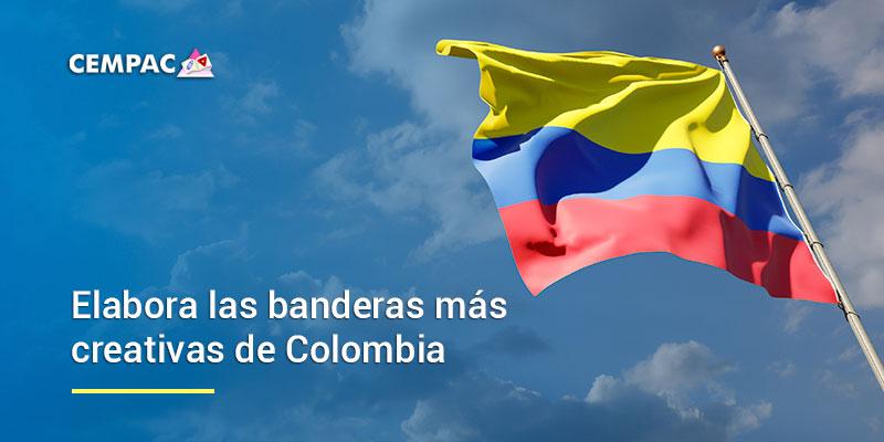 Elabora las banderas más creativas de Colombia para este 20 de Julio